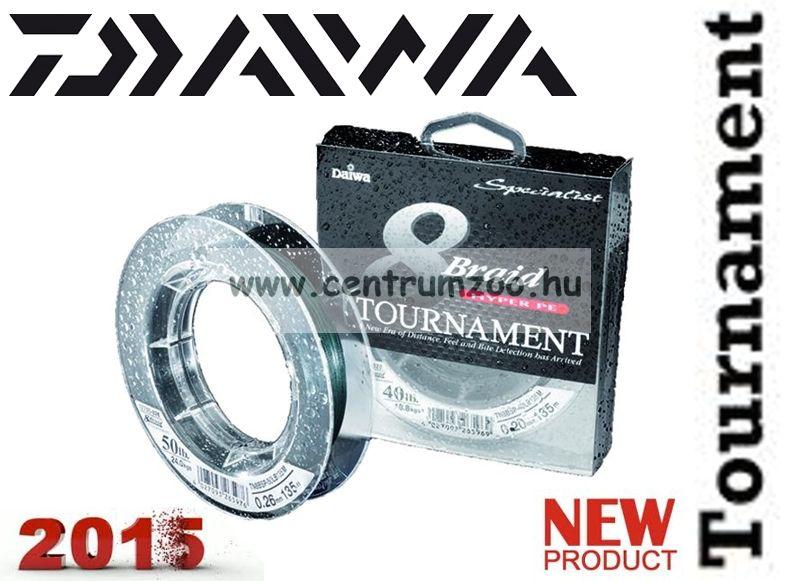 DAIWA TOURNAMENT 8X Braid 135m 0,26mm 24,0kg fonott zsinór (12705-026) SÖTÉTZÖLD