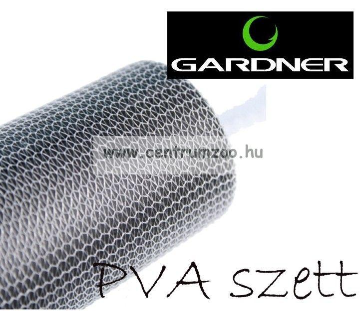 Gardner - DOUBLE BARREL FISHNET PVA + PLUNGER - normál szövésű pva szett (2 méret+tömő) (CDDBEL)