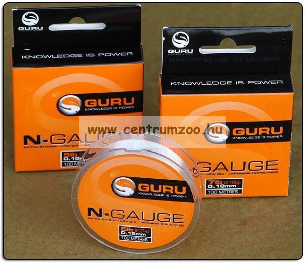 GURU N-Gauge 7lb 0,19mm előke zsinór (GNG19)