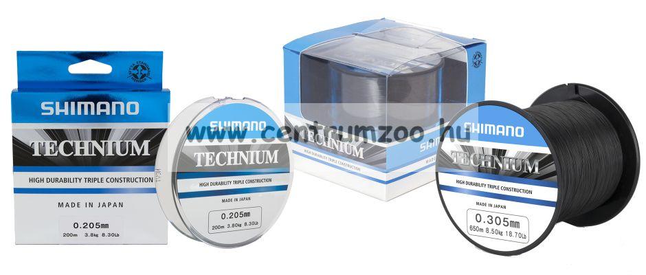 Shimano TECHNIUM prémium bojlis zsinór 0,185mm 3,2kg 2990m (TEC18QPPB) 2016NEW