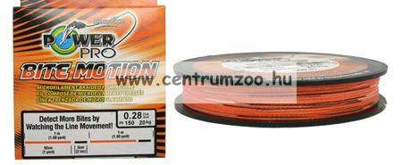 Power Pro zsinór    150m 0,19mm 13kg Bite Mo. narancssárga