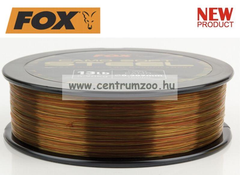 FOX Camo Soft® Edges Soft Steel light Camo 16lb 1000m - 0.331mm 7,27kg monofil zsinór (CML133)