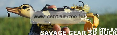 Savage Gear 3D Suicide Duck mű kiskacsa csukára, harcsára 10,5cm 28g (Coot color)