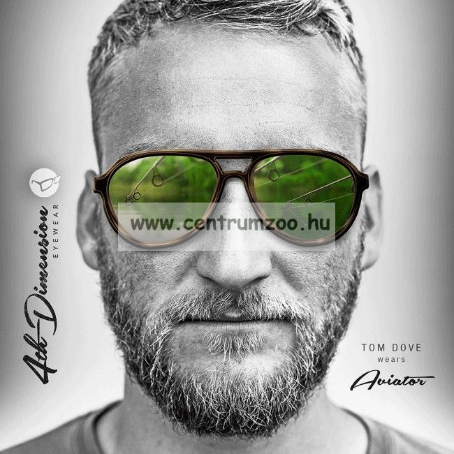 Korda Sunglasses Aviator Mat Black Frame - Grey Lens Polarized napszemüveg (K4D03)