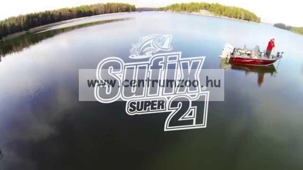 Sufix SUPER21 0.14mm/1.8KG/4LB/clear 300m japán monofil zsinór 2015NEW