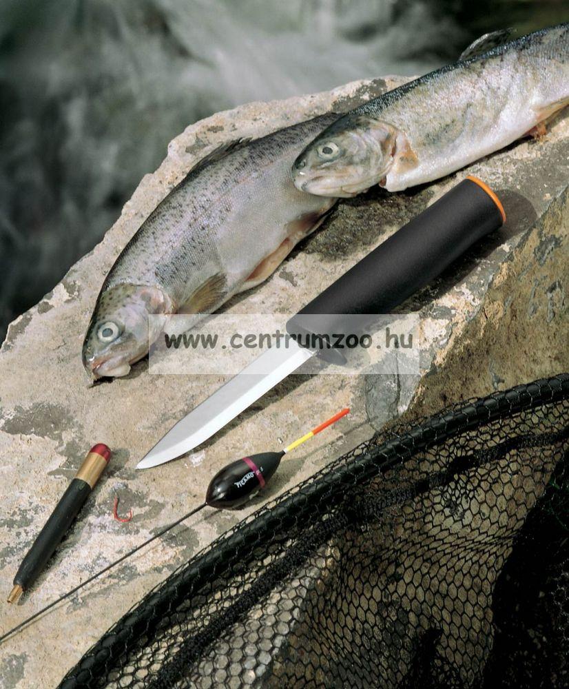 Mustad Bait Knife Black Teflon Coating horgászkés tokkal (MT020)