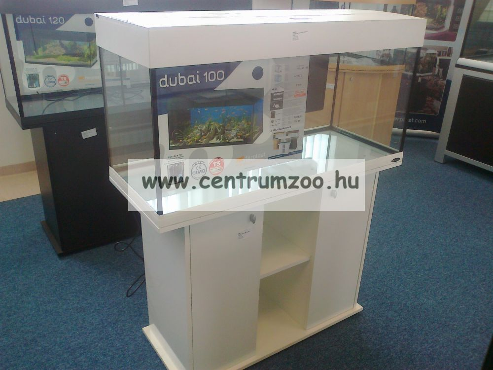 Ferplast Dubai 100 LED White Profi komplett akvárium szett -fehér szín