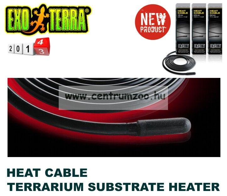 EXO-TERRA Terra Heat Cable talajfűtő kábel 25W 4,5m (PT2012)