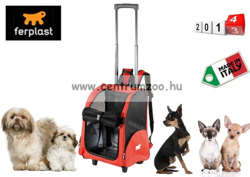 Ferplast Trolley Red kerekes szállító kocsi és hátizsák