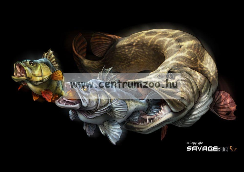 Savage Gear 3D Line Thru Pike 30cm 210g 02-Albino Pike gumihal (50433)