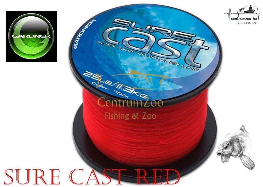 Gardner SureCast Red nagy tekercs főzsinór piros - több méret