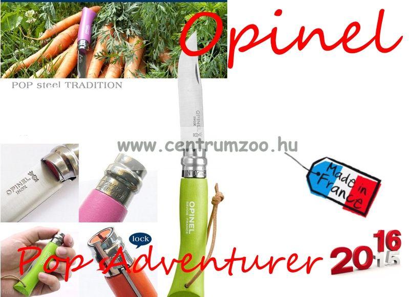OPINEL Pop & Fuchsia Adventurer zsebkés 8cm pengehosszal (001425) - Green Apple