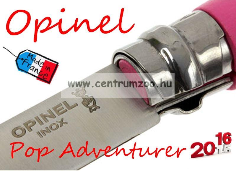 OPINEL Pop & Fuchsia Adventurer zsebkés 8cm pengehosszal (001791) - Fuchsia Pink