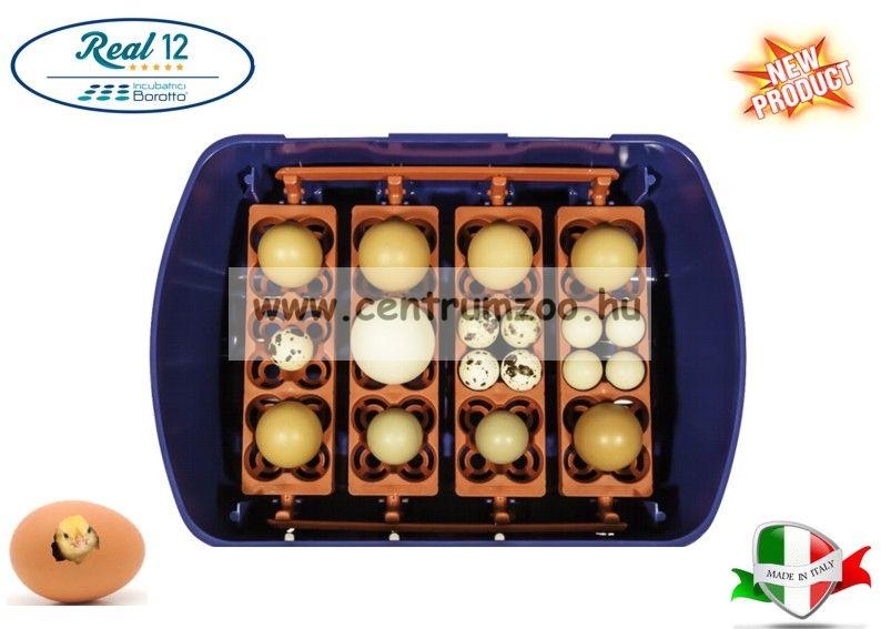 REAL 12 Italy Semi Automatica - Professional csirkekeltető (tojáskeltető, keltetőgép) tojásforgatóval