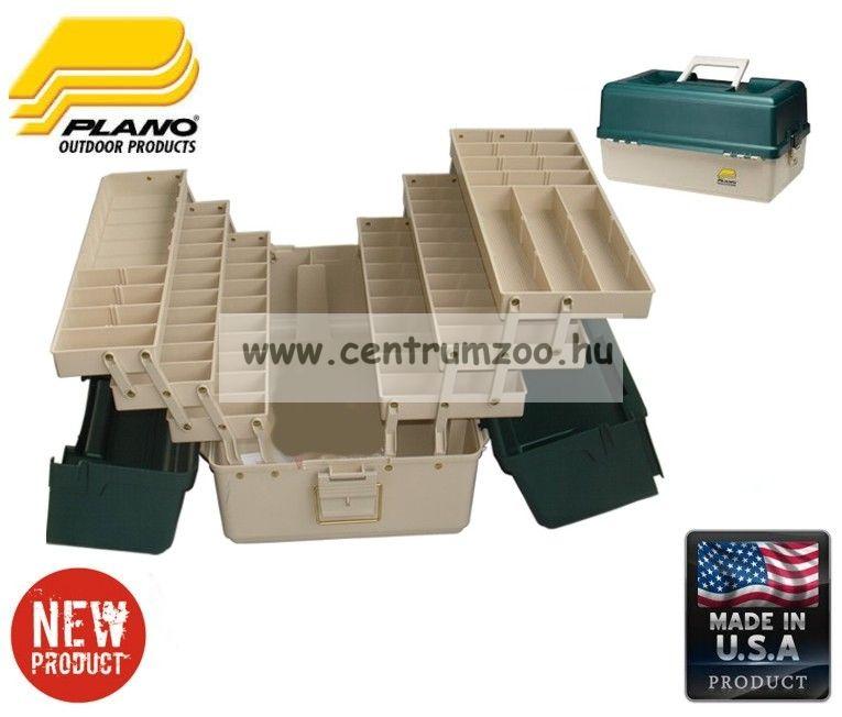 Plano 9606 6 tálcás láda 52x32x27cm beige/zöld