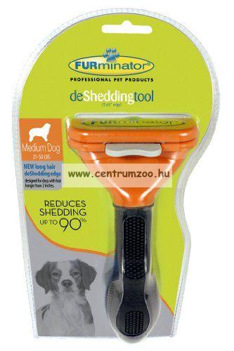FURminator DeLuxe Professional Medium közepes testű kutyák részére 6,7cm