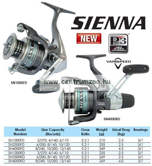 Shimano SIENNA 2500RD hátsófékes orsó (SN2500RD)