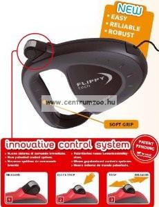 Ferplast Flippy Tech Deluxe Cord Small Red zsinóros póráz - BORDÓ