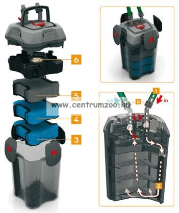 pótszivacs Ferplast Bluclear 700 / 1100 fekete pótszivacs BluExtreme 700 és 1100 termékekhez