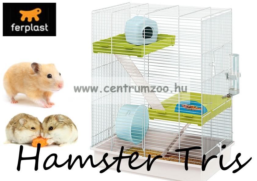 Ferplast Hamster Tris 3 szintes felszerelt hörcsög ketrec