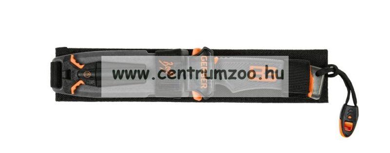 GERBER BEAR GRYLLS tőr, sima pengével, tokkal, tűzgyújtóval (1063)