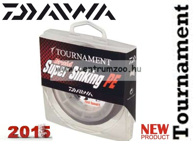 DAIWA TOURNAMENT BRAID Super Sinking 150m 0,23mm 11,3kg fonott zsinór (12709-123)