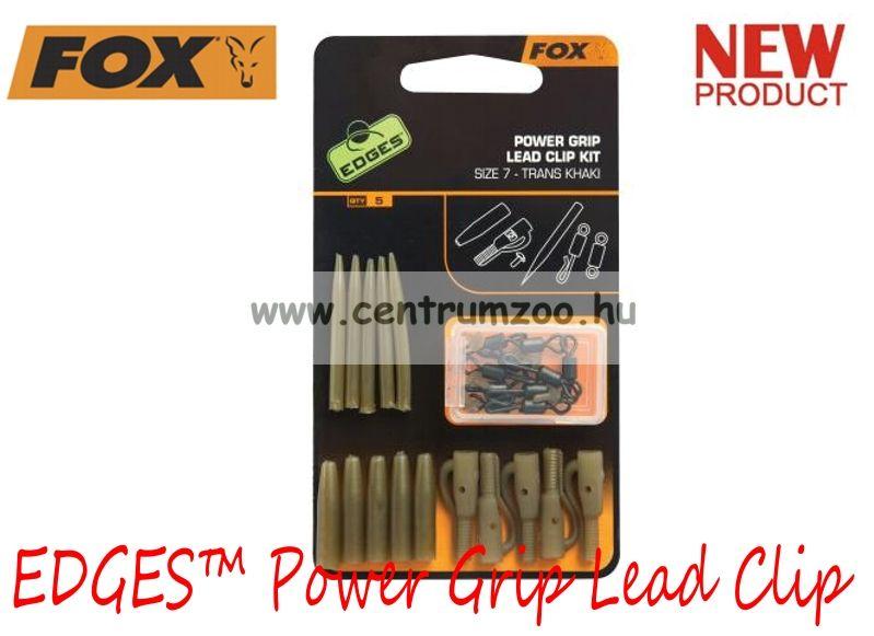 Fox EDGES™ Power Grip Lead Clip Kit 5db szerelék (CAC638)