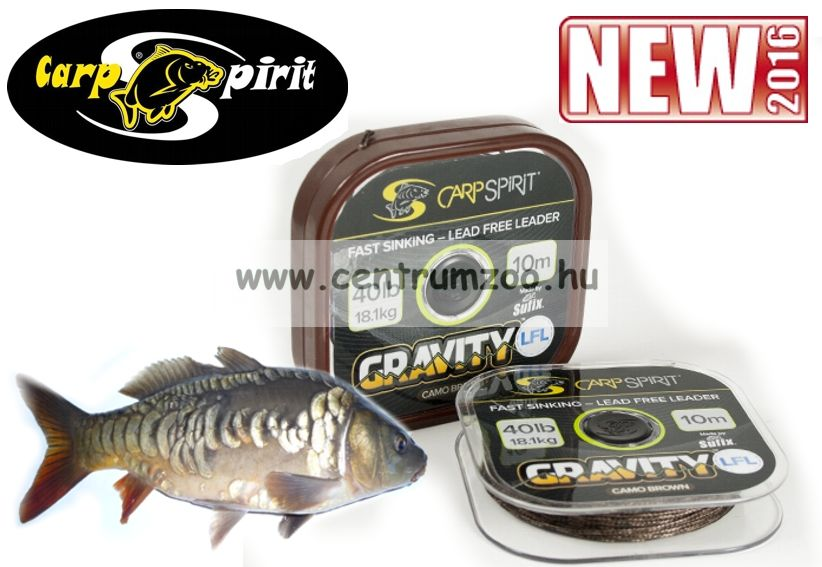 Carp Spirit Gravity SSL 45lbs 20,4kg 10m Camo Brown - fonott előkezsinór