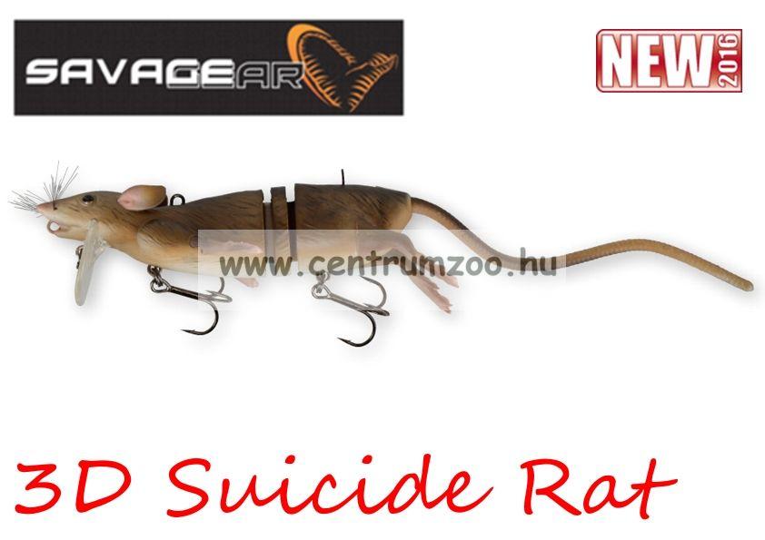 Savage Gear 3D Rad Rat mű úszó patkány csukára, harcsára 20cm 32g (Brown color)