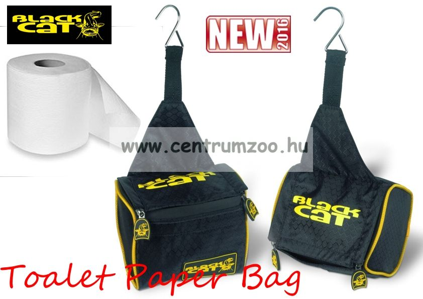Black Cat Paper Bag 15x12x12cm tábori toalett papír tartó (8515010)