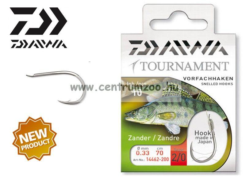 Daiwa Tournament X Power ZANDER Snelled Hooks előkötött horog - SÜLLŐZŐ (1462) (14462-0 )