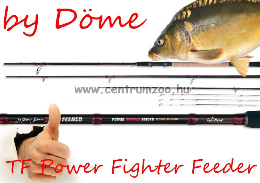 Döme Gábor Team Feeder Power Fighter Feeder 360 MH 20-80gr (1842-362)