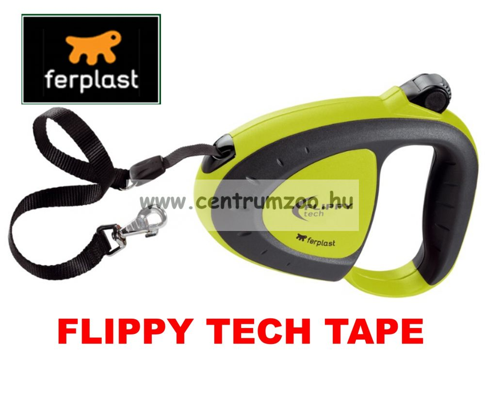Ferplast Flippy Tech Deluxe Tape Large Green szalagos póráz - ZÖLD