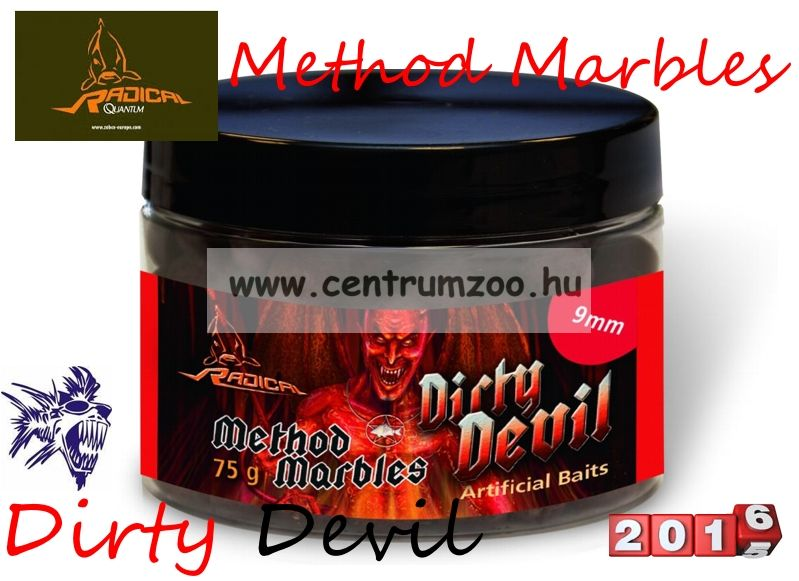 Radical Carp Method Marbles Dirty Devil  9mm 75g (3962102) süllyedő