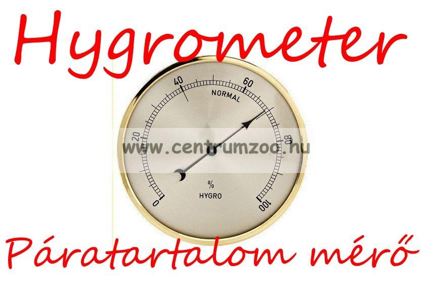 GoldBlack Hygrometer terráriumba keltetőbe, lakásba... (páratartalom mérő)