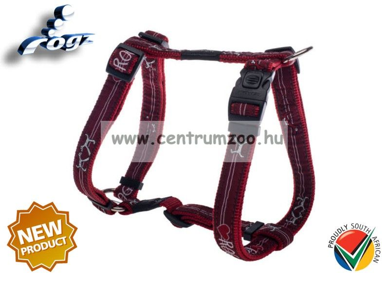 Rogz Fancy Dress Scooter hám Medium SJ12 -BT Red Heart