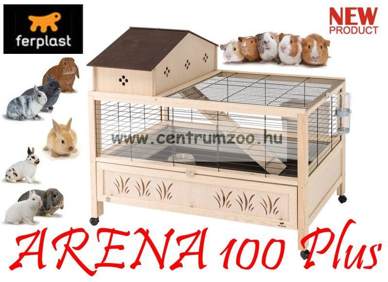 Ferplast Arena 100 PLUS fa-műanyag-fém tengerimalac és nyúl BIRODALOM