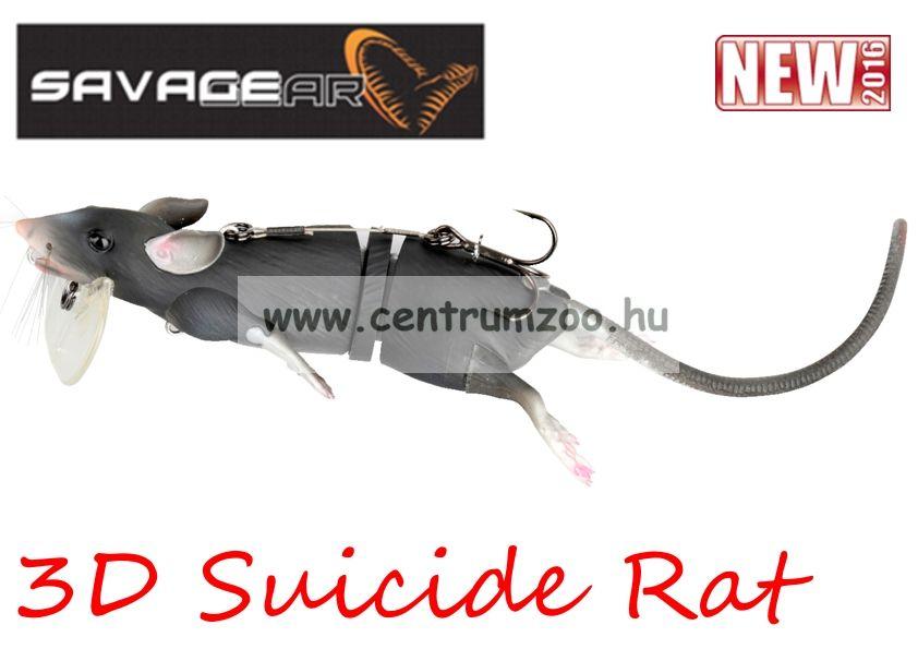 Savage Gear 3D Rad Rat mű úszó patkány csukára, harcsára 30cm 86g (Black color)