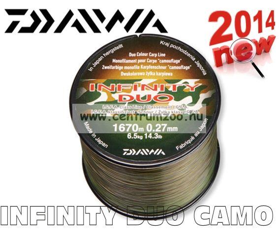 Daiwa Infinity Duo Camo 0,33mm 1060m 8,6kg prémium bojlis zsinór (12988-133)