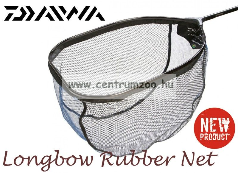 MERÍTŐFEJ  Daiwa LONGBOW RUBBER NET erős merítő 55cm (LBRN3) (198984)
