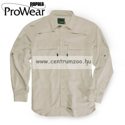 Rapala Pro Wear Fishing Shirt Grey Beige  (22201-2)