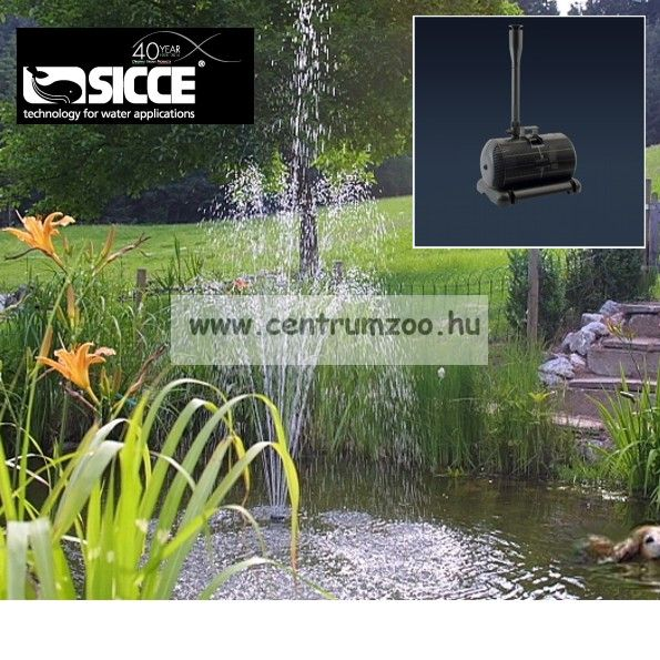 Sicce Aqua 3 4000 TAVI SZÖKŐKÚT - TÓSZŰRŐ 4000l/h H300cm - SIKERTERMÉK