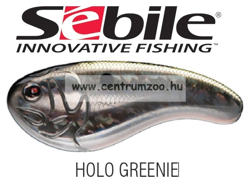 Sebile Flatt Shad megbízható wobbler FS-050-SK - Holo Greenie HGR (1404989)