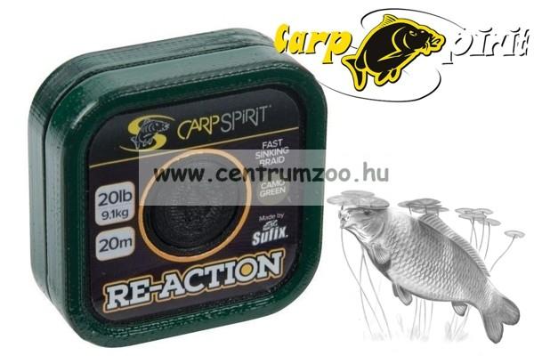 Carp Spirit Re-Action Braid 15lbs 20m Camo Green - fonott előkezsinór