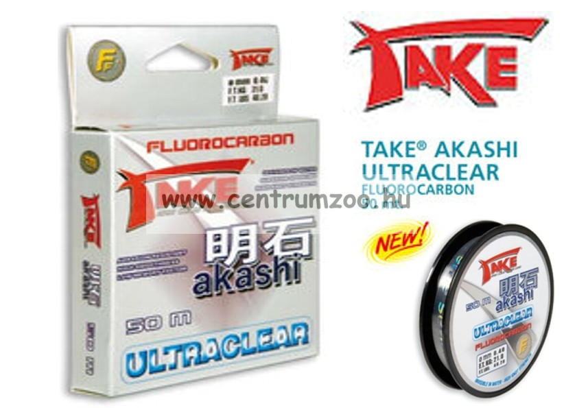 TAKE® AKASHI ULTRACLEAR FLUOROCARBON 50m 0,22mm 9kg