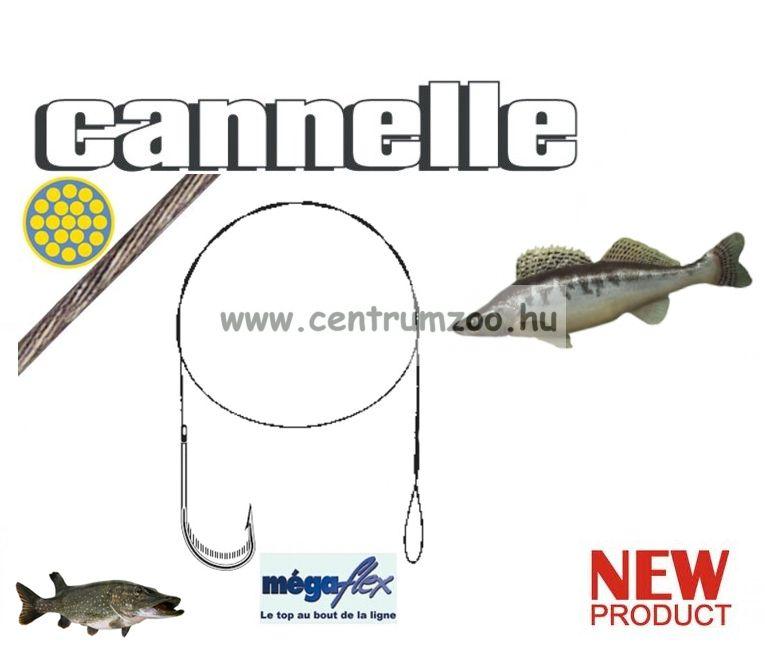 CANNELLE MEGAFLEX süllőző horoggal szerelt előkezsinór szett 3db/cs (731)