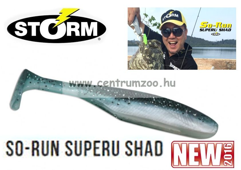 "Storm So-Run Superu Shad 4"" gumihal 10cm (SSRSSB6404LM)"