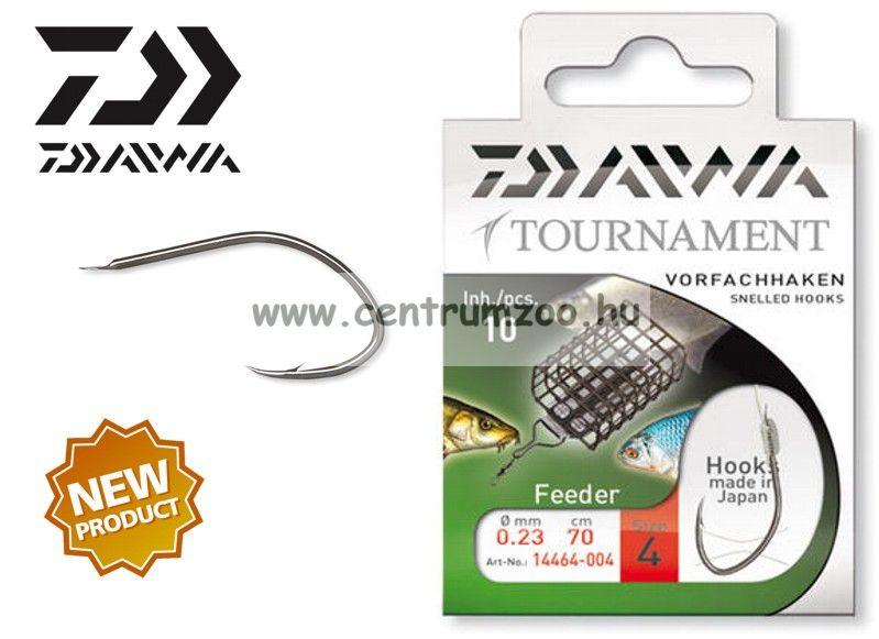 Daiwa Tournament FEEDER Snelled Hooks előkötött horog - FEEDERES (1464) (14464-0 )