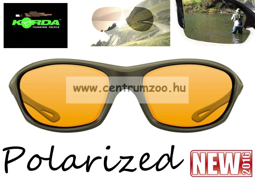 Korda Sunglasses Wraps Gloss Olive - Yellow Lens Polarized napszemüveg (K4D02)