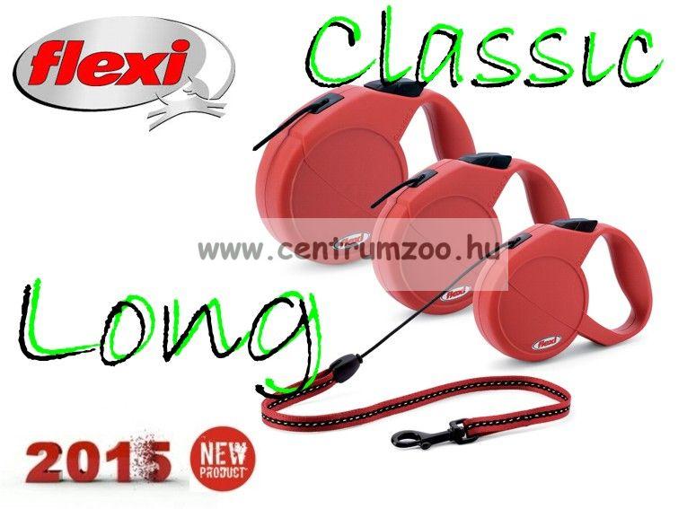 Flexi Classic 3 Long Red 7 méter 50kg piros automata póráz
